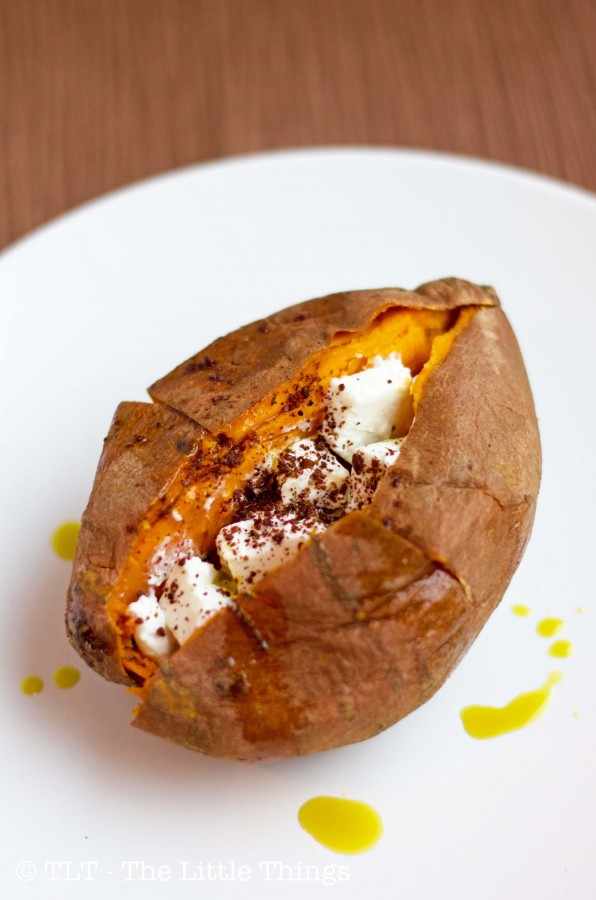 Twice-Baked Sweet Potatoes With Feta And Sumac Recipes — Dishmaps