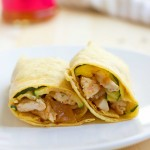 chicken mango chutney wraps