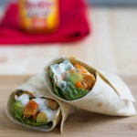 buffalo chicken wraps with avocado