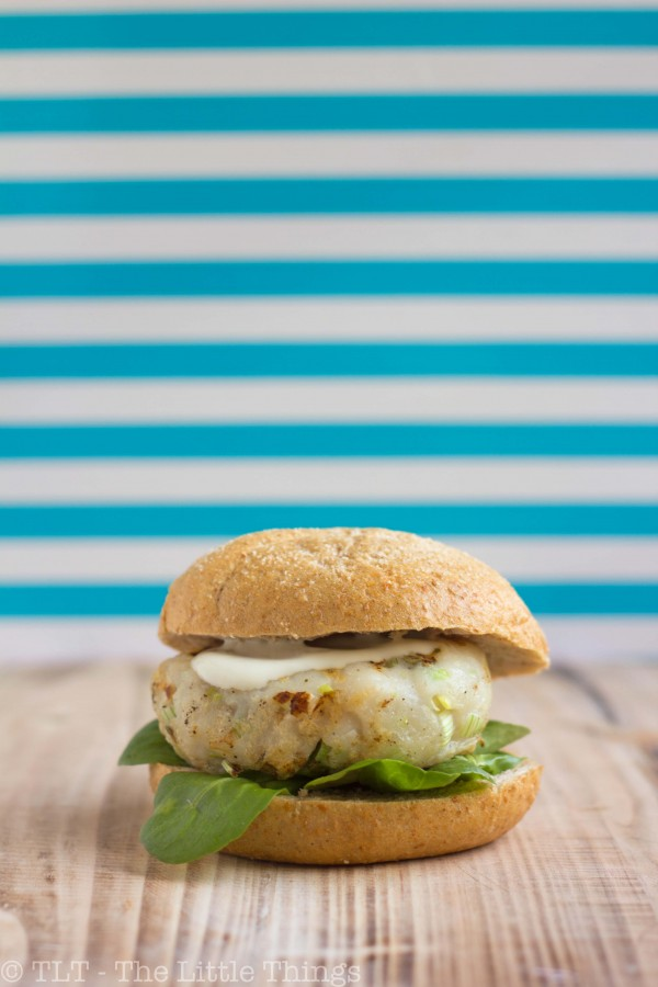 fish burger visburger lemon wasabi mayonnaise