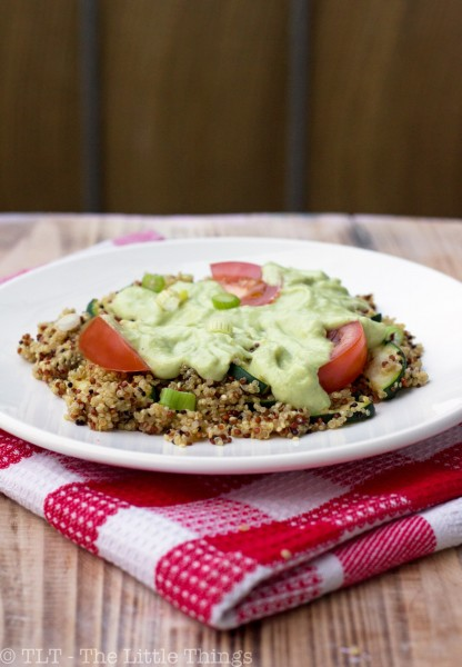 quinoa with avocado dressing