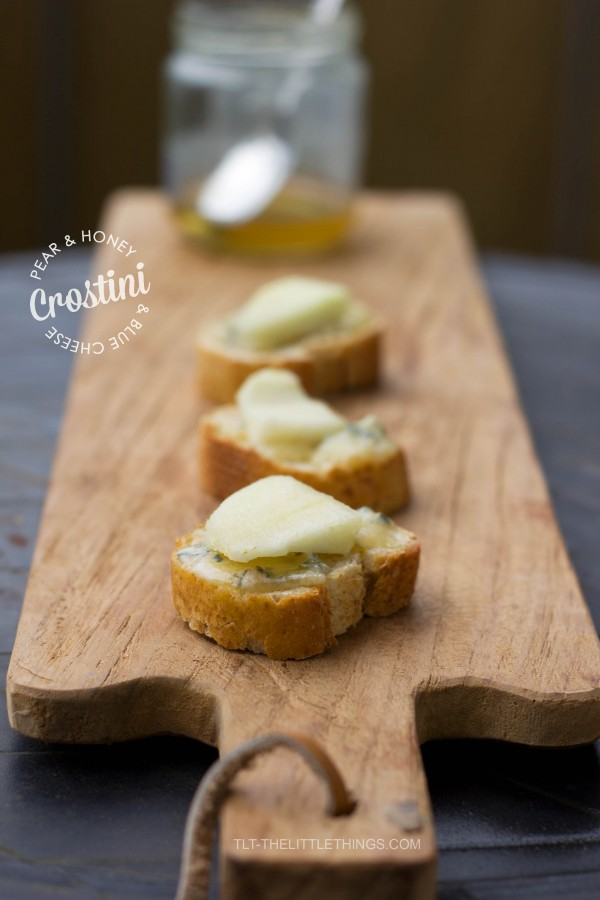 Pear, Honey and Blue Cheese Crostini | TLT - The Little Things
