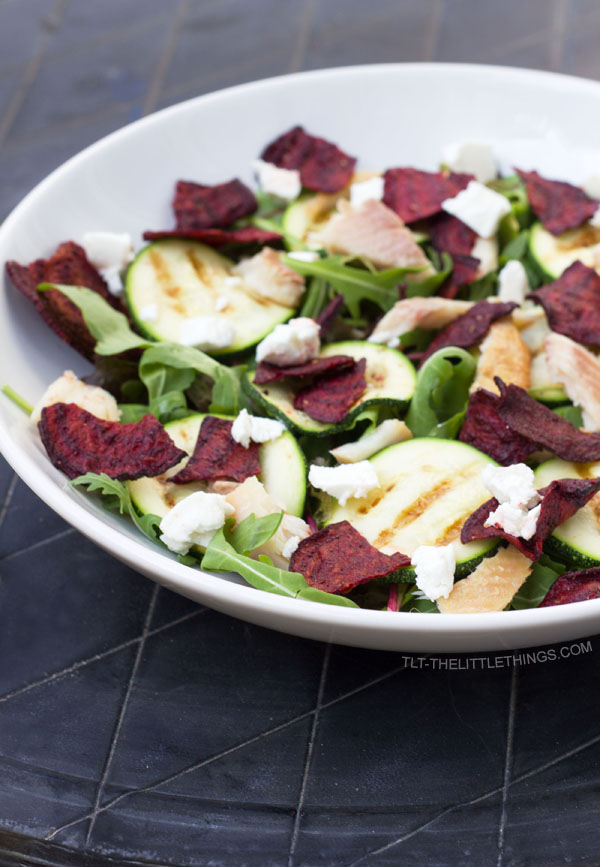 salad with beet-chips TLT