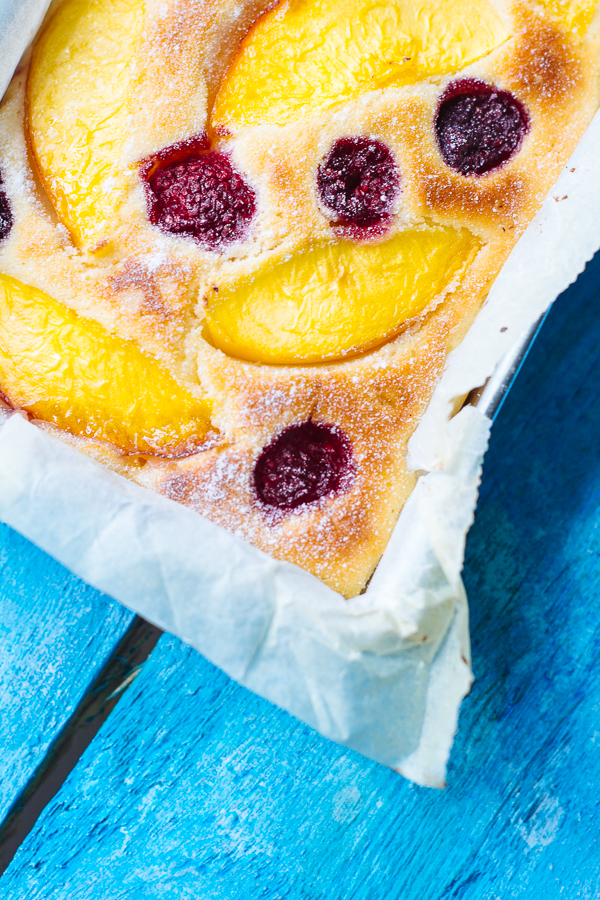 Little Ricotta Cake with Nectarines and Thyme